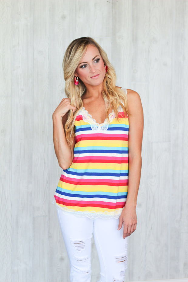 Rainbow Chasin' Lace Tank