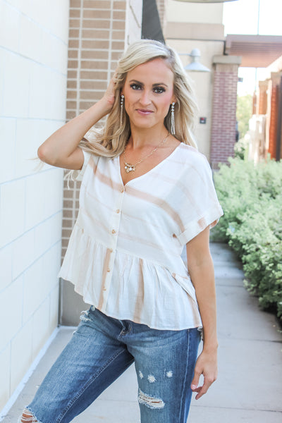 Prosecco Date Tie Top - Ivory