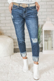 The Mandy Dark-Wash Boyfriend Jeans