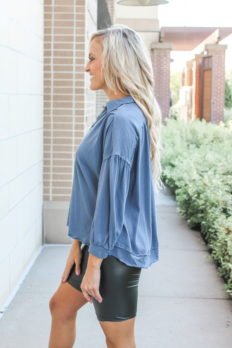 Candy Clouds Ruffle Top