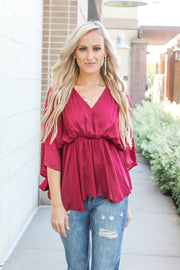 Hit By Cupid Off Shoulder Sweater