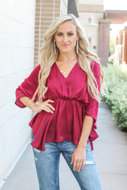 Party Time Striped Tassel Top