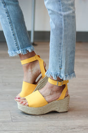 The Mia Espadrilles - Mustard