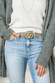 *Vintage Must Have Belt - Taupe