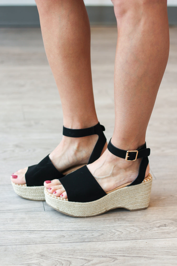 The Mia Espadrilles - Black