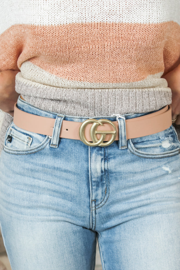 Vintage Must Have Belt - Blush