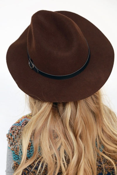 Let's Travel Dark Brown Hat