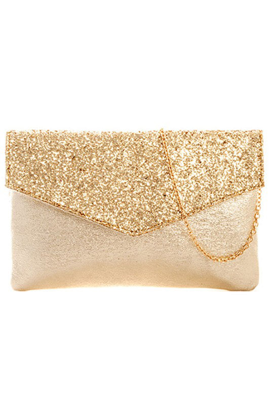 Shine Bright Gold Clutch