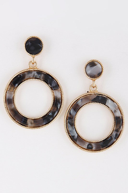 Classic Gal Light Earrings - Black