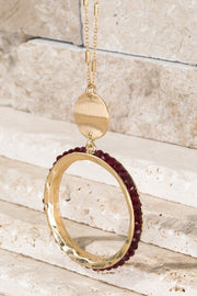 Wine Wednesday Drop Necklace