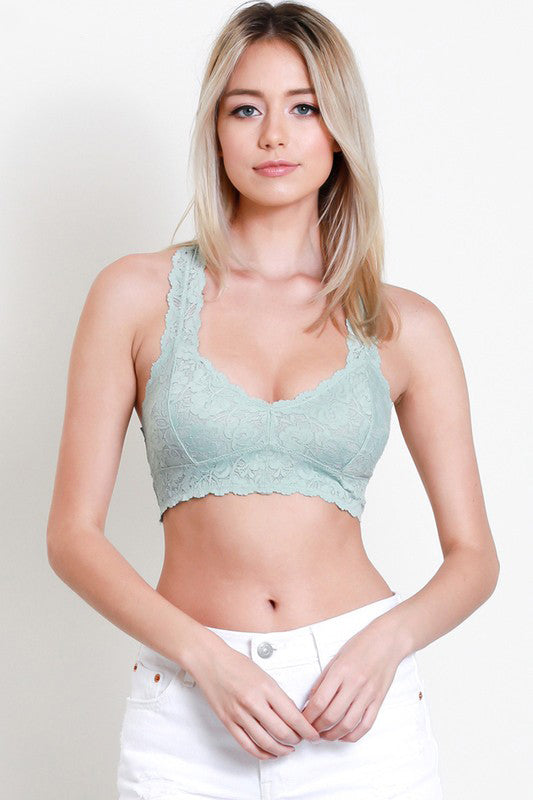 Simply Lace Bralette - Powder Blue