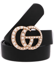 Attention Getter Pearl Belt - Black