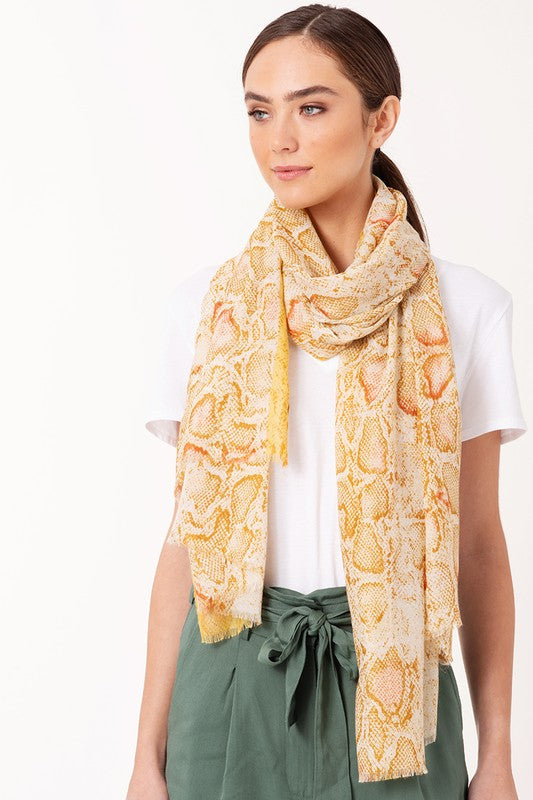 Python Party Scarf - Yellow