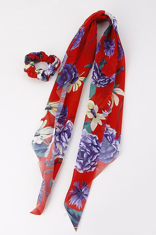 The Lyla Floral Scarf Scrunchie