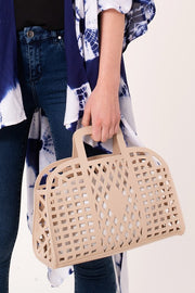 Spring Chic Cutout Bag - Beige