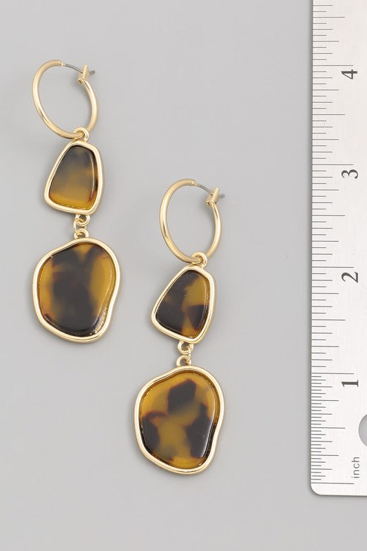 Lovely Day Tortoise Charm Earrings