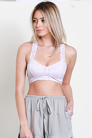 Simply Lace Bralette - Lilac