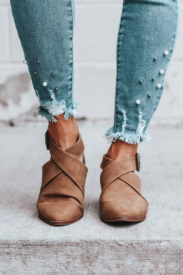 The Riley Bootie with Western Belt