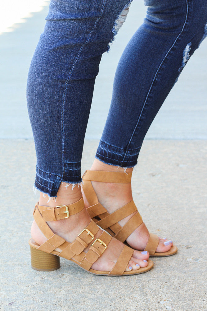 All Day Strappy Block Sandals