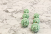 Roll With It Tiered Earrings-Mint