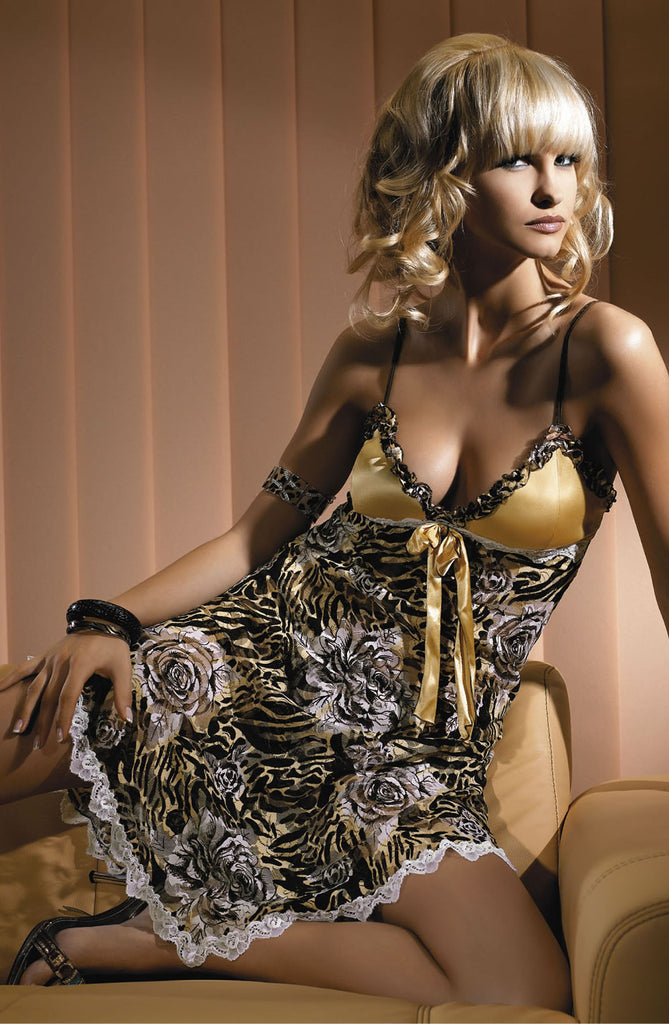 Gracya Safari Gold/Brown Babydoll
