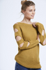 Mustard Knitted Cut Out Arm Jumper One Size