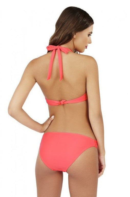 Nectarine Twist Front Push Up Bikini Set