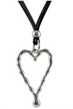 Antique Silver Coloured Heart Necklace