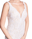 Angie - Figure Hugging Ivory Lace Dress