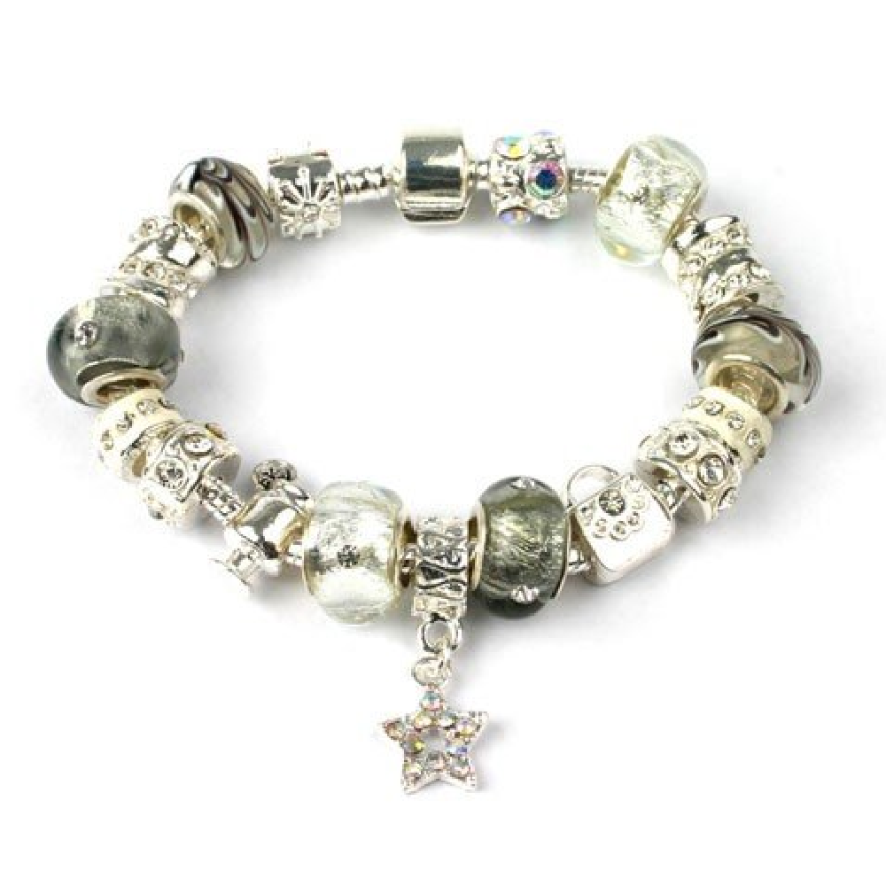Silver Plated 'Champagne Glamour' Charm Bracelet