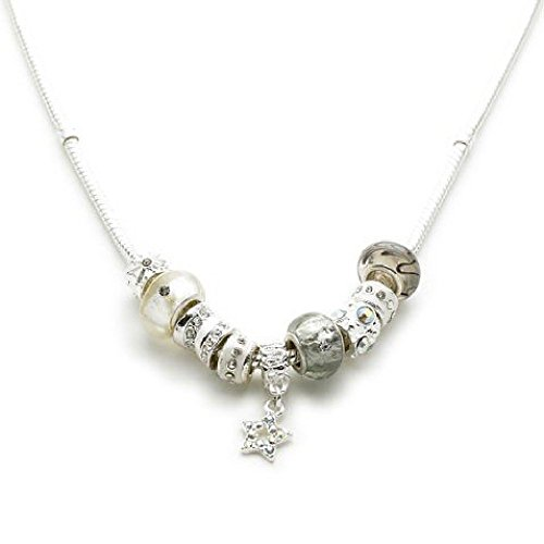 Silver Plated Champagne Glamour Charm Necklace