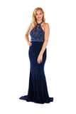 Eliza - Midnight Figure Hugging Jersey Dress