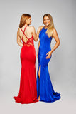 Kimberley - Stretch Jersey Gown With Strap Details