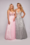 Leah - Glitter Patterned Ball Gown