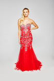 Lola - Slinky Fishtail Dress With Handed Beaded Crystals