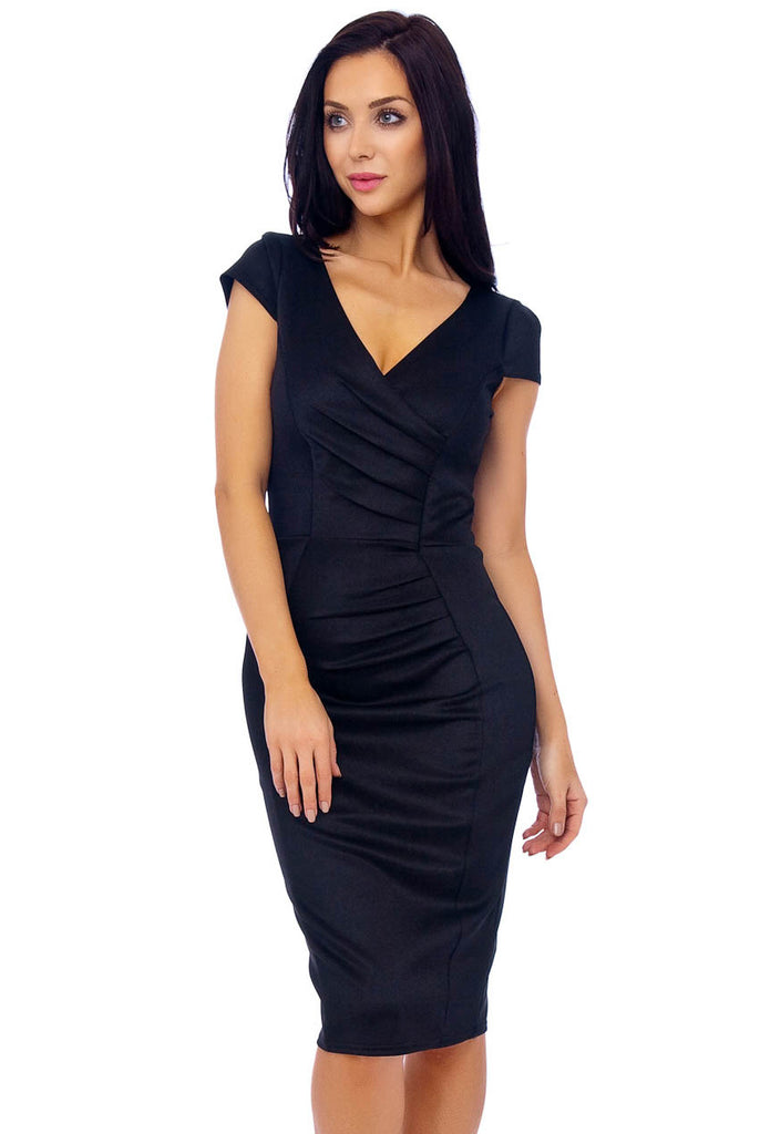 Black Marcella Midi Dress