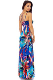 Tropical Print Multi Strap Maxi Dress