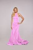 Olivia - Pink Glitter Figure Hugging Jersey Dress