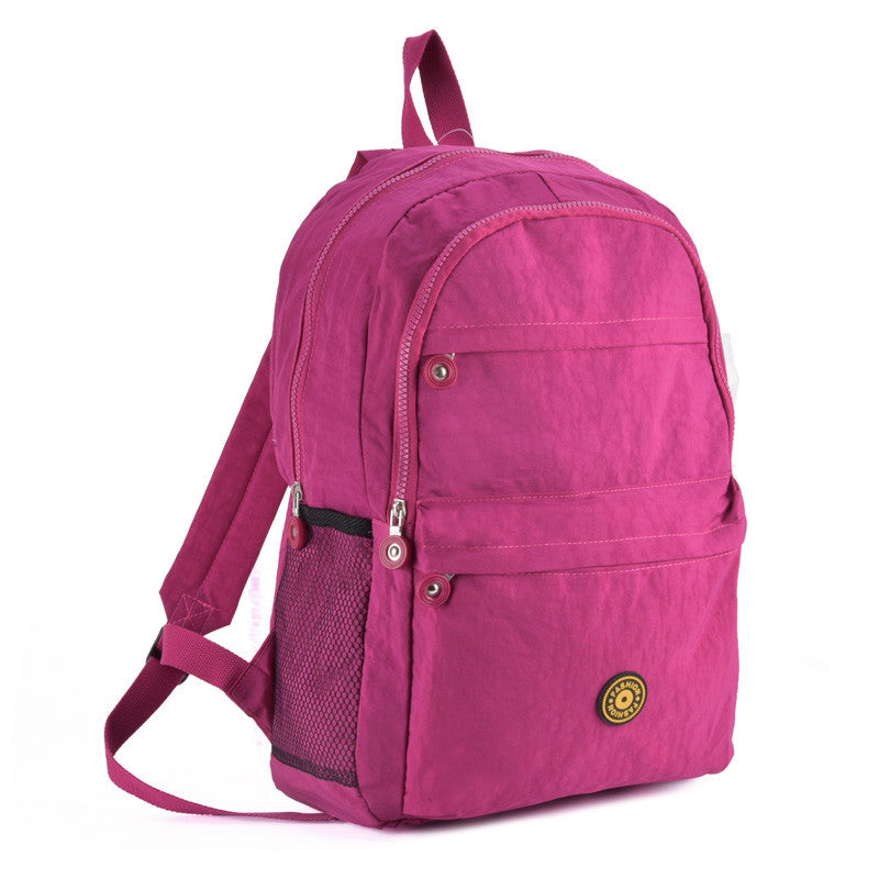 Fushia Casual Nylon Sports Backpack