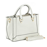 White Rectangular Shopper Style Handbag