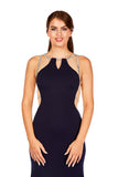 Sadie - Midnight Blue Figure hugging Jersey Dress