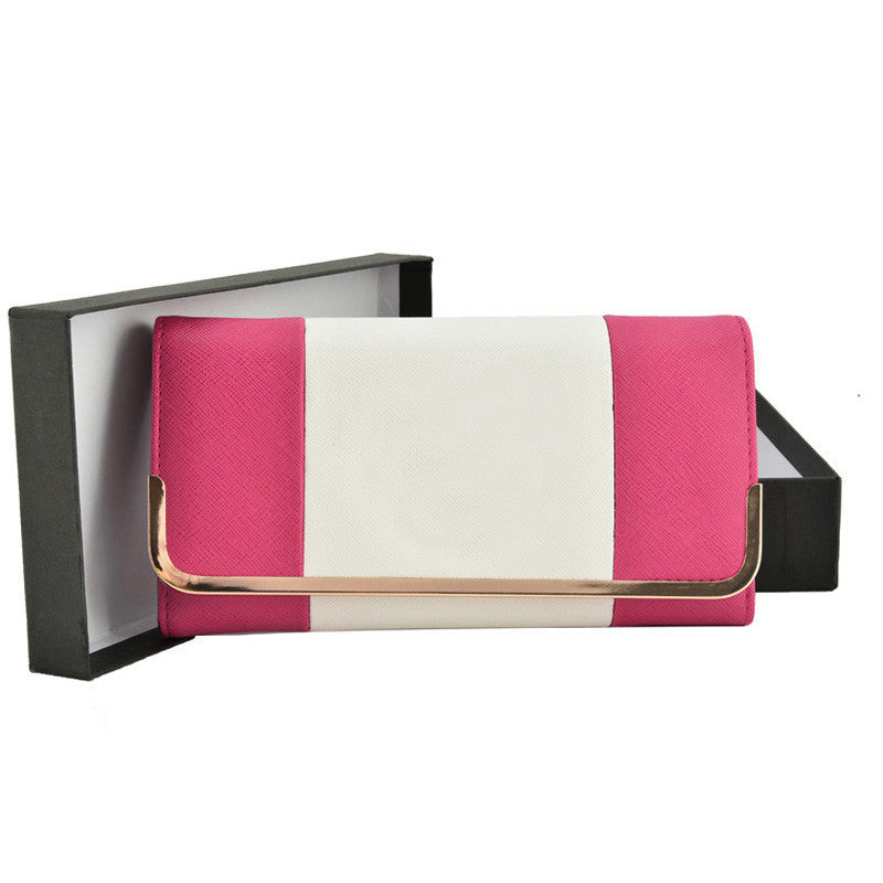 Fuschia Patchwork Metal Frame Purse