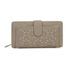 Closed Beige Hollow Flower Pattern Wallet or Purse