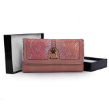 Pink Snakeskin Pattern Patchwork Purse