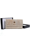 Beige Snakeskin Pattern Patchwork Purse