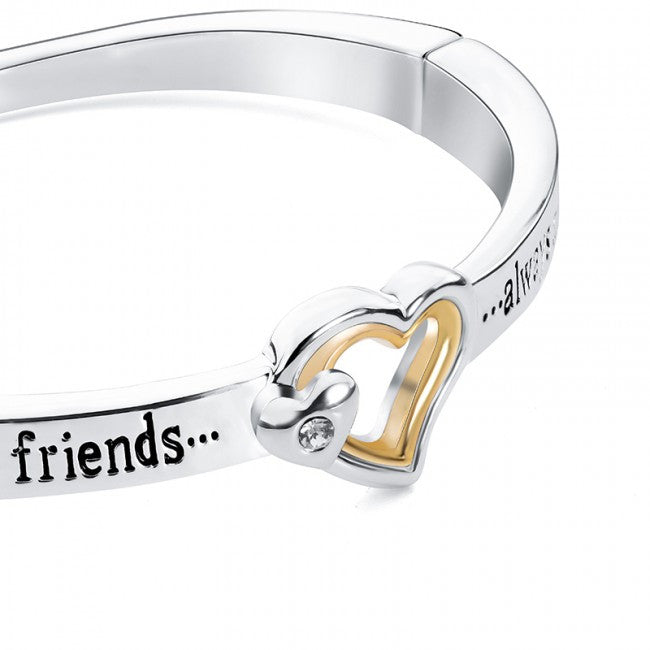 'Believe You Can & You're Halfway There' Silver Tone Sentiment Bangle