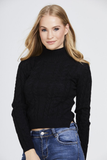Cropped Cable Knit Jumper
