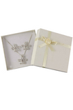 Boxed Diamante Flower Pendant and Earrings Set