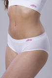 Bridget's Beauties High On Hips Briefs - Lily White