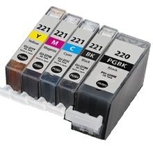 Canon PGI-220/CLI-221 Set of 5  compatible ink - Buy Direct!